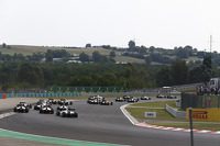 GP2 cars at the start