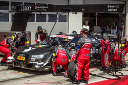 Pit stop for Adrien Tambay, Audi Sport Team Abt Audi RS 5 DTM
