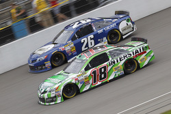 Cole Whitt, Swan Racing Toyota and Kyle Busch, Joe Gibbs Racing Toyota