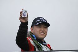 Race winner Martin Cao