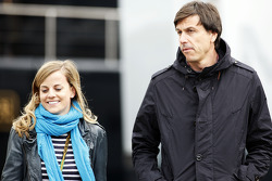 (L to R): Susie Wolff, Williams Development Driver with Toto Wolff, Mercedes AMG F1 Shareholder and Executive Director