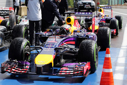 Sebastian Vettel, Red Bull Racing RB10 in parc ferme