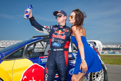 #31 Olsbergs MSE Ford Fiesta ST: Joni Wiman with the Red Bull girl