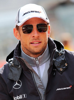 Jenson Button, McLaren on the drivers parade