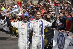 Third place Andreas Mikkelsen, Ola Floene