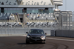 Sebastian Vettel drives the Sochi Autodrom