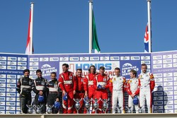LMGTE Podium: winners Duncan Cameron, Matt Griffin, Michele Rugolo