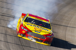 Joey Logano, Team Penske Ford blows an engine at the finish