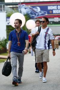 Felipe Massa, Williams, with Nicolas Todt, Driver Manager