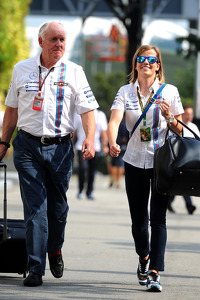 Edward Charlton, Williams Non-Executive Director with Susie Wolff, Williams