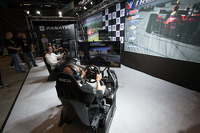 Racing simulation display