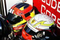 Ferrari drivers helmets