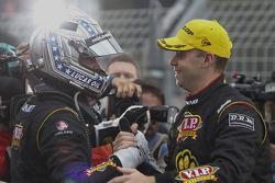 Race winners Shane van Gisbergen and Jonathon Webb