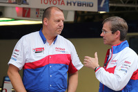 John Steeghs, Toyota team manager and Pascal Vasselon, Toyota technical director