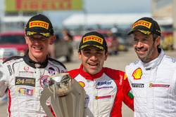 Race winner Ricardo Perez, second place Scott Tucker, third place Mark McKenzie