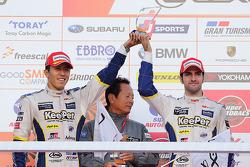 Podium: second place Daisuke Ito, Andrea Caldarelli
