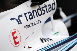 Williams FW36 engine cover with message of support for Jules Bianchi (FRA)