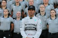 Lewis Hamilton, Mercedes AMG F1 at a team photograph