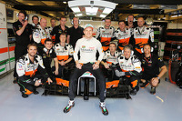 Nico Hulkenberg, Sahara Force India F1 VJM07 with the team