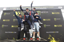 Reinis Nitiss and Andreas Bakkerud, Team Olsbergs celebrate the team championship