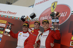 Ferrari Challenge Europe race 1 podium - Trofeo Pirelli PRO: winner Philipp Baron, second place Dario Caso, third place Daniele di Amato