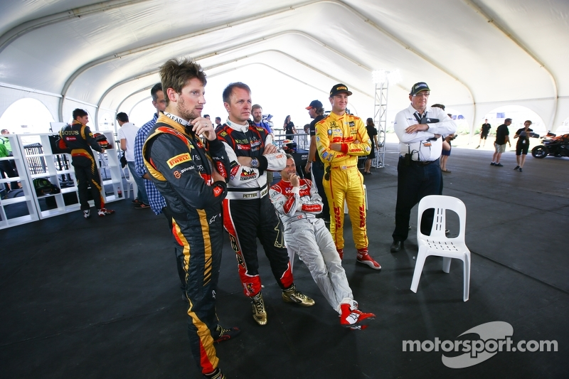Romain Grosjean, Petter Solberg, Tom Kristensen, Ryan Hunter-Reay