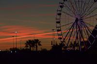 The sun sets over Daytona