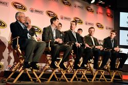 Team owner Joe Gibbs, Denny Hamlin, Kyle Busch, Matt Kenseth, Carl Edwards