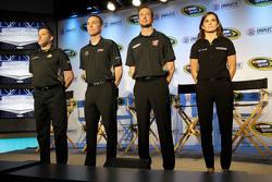Tony Stewart, Kevin Harvick, Kurt Busch and Danica Patrick, Stewart-Haas Racing
