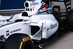 Williams FW37 sidepod detail