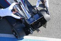 Fernando Alonso, McLaren MP4-30 rear wing detail