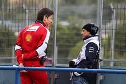 (L to R): Massimo Rivola, Ferrari Sporting Director with Felipe Massa, Williams