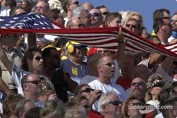 Fans during National Anthem