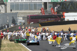 The usual post-race action at Le Mans