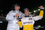 The Race of Champions 2004 winner Heikki Kovalainen receives a Tag Heuer watch