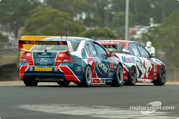 Russell Ingall and Mark Skaife battled till the end of the race