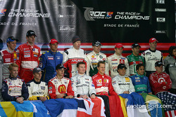 The 16 drivers of the 2004 Race of Champions
