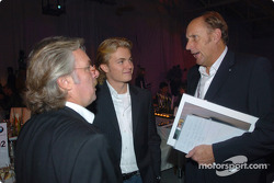 Keke Rosberg with his son Nico and Hans Stuck