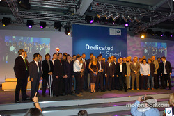 Barbara Schöneberger with all the Prize winners at the BMW Motorsport prize giving Party