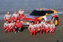 Mitsubishi Motors Repsol ATS Studios Team presentation: the team members pose