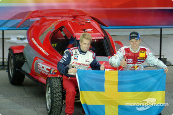 Team Sweden: Kenny Brack and Mattias Ekström