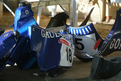 KTM team testing: body parts of Gauloises KTM bike