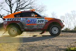 Mitsubishi Motors Repsol ATS Studios shakedown: Hiroshi Masuoka and Andreas Schulz