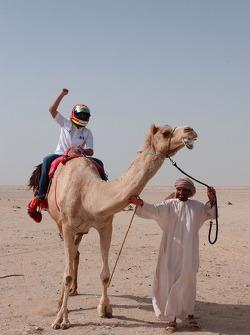 Antonio Pizzonia on a camel