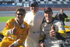 Christian Fittipaldi, Emerson Fittipaldi and Max Papis circa 2005