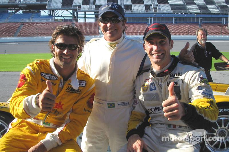 Christian Fittipaldi, Emerson Fittipaldi and Max Papis