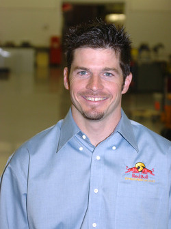 Patrick Carpentier at the Cheever Racing shop