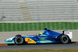 Felipe Massa tests the new Sauber Petronas C24