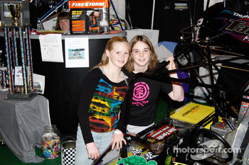Two future stars.  Kala Proctor and Stephanie Smith drive Microrods with the Syracuse Quarter Midget & Microrod Club.  The club is currently raising money for a new track.