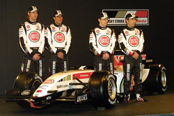 Jenson Button, Enrique Bernoldi, Anthony Davidson and Takuma Sato